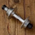 """Nabe Hinterrad, """"GIPIEMME"""",  Aluminium, 28 Loch, Einbaumaß 127mm, Standardgewinde f. Schraubkranz  1,375"""" x 24 tpi, NOS"""