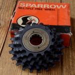 "Freilaufkranz ""SPARROW"", 5-fach, 1.375"" x 24 tpi, orig. Altbestand 70/80er J., 14-16-18-20-22"