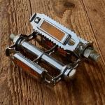 """Pedale Sport """"Rat-Trap"""", verchromt, Gewinde 1/2 Zoll (12.7mm) !!!,  Reflektoren sind demontierbar"""