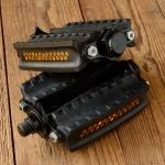 """Pedale CH , """"Schweizer Militärfahrrad"""", original, schwarz glänzend,  NEU aus altem Bestand, L/B=140/90mm"""