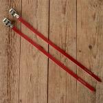 """Pedalriemen """"CHRISTOPHE / LAPIZE"""", rot, Leder, hochwertige Ausführung"""