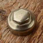 Pedalkappe, vernickelt, Innengewinde D_innen=22.6mm D_aussen=25.1mm,  orig. alte Neuware