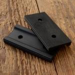 Pedalgummi für Flügelpedalen 10-30er Jahre,  2 Stck. Satz (also für 1 Pedal), schwarze  Ausführung