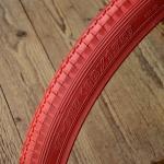 Fahrrad Reifen, 28 x 1,75 (47-622), rot, klassische Ausführung