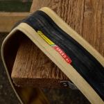 "Fahrrad Reifen Faltreifen, ""GOMMITALIA Speed G1"", 28""(622), schwarze Lauffläche / Flanke cremefarben, orig. Altbestand !"