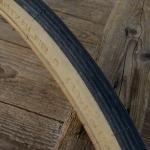 """Fahrrad Reifen, """"METZELER"""", 28 x 1 3/8 x 1 5/8 (37-622), schwarzes Profil, creme Flanke"""