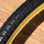 Fahrrad Reifen 26 x 1,75 x 2 (47-559), Import, schwarz m. hellbrauner Flanke