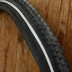 """Fahrrad Reifen, """"SWALLOW"""", 28 x 1,75 (47-622), altes Profil, schwarz mit Reflexstreifen"""