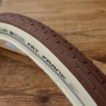 """Fahrrad Reifen, 28"""" x 2.0 (50-622), """"SCHWALBE FAT FRANK"""", braun (kakaofarben), Weisswand (cremefarben)"""