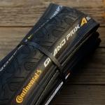 """Fahrrad Reifen Faltreifen, """"CONTINENTAL Grand Prix 4 Season"""", 28"""" (25-622), schwarze Lauffläche / Flanke schwarz"""