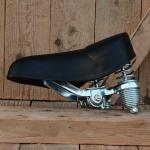 """Sattel Fahrrad """"Wittkop Medicus"""" deutscher Komfortsattel, schwarz,  mit Zug-und Druckfederung, orig. 70/80er J."""