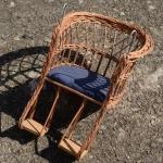 Kindersitz aus Korbgeflecht, für Lenkermontage, B=26/21cm H=37cm