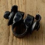Sattelkloben für 1-fach Runddraht, schwarz