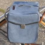 Packtaschen für Fahrrad, hell-blau, orig Altbestand, 60/70er Jahre
