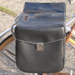 Packtaschen für Fahrrad, schwarz, orig. Altbestand