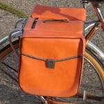 Packtaschen für Fahrrad, orange, orig. Altbestand