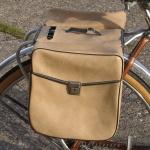 Packtaschen für Fahrrad, sandfarben, orig. Altbestand