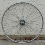 """Hinterrad, 26"""" x 1,75  (559-24), Stahl verchromt, 28mm breit, Nabe F&S 3-Gang Mod.515 , gebrauchter Zustand"""
