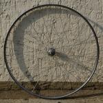 """Hinterrad, 28"""" (622-22), Felge Stahl verchromt 28mm breit aussen """"SCHÜRMANN"""", Nabe für Schraubkassette verchromt"""