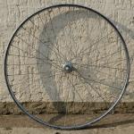 """Hinterrad, 24"""" x 1 3/8 (540-22), Felge Stahl verchromt 28mm breit aussen """"VAN SCHOTHORST"""", Nabe für Schraubkassette Aluminium"""