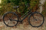 """Damenfahrrad, """"HERCULES CYCLE"""" 30/40er Jahre, schwarz, gold RH: 53 cm, 26 Zoll (35-590) !!!, teilrestauriert"""
