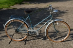 """Damenfahrrad Sport """"STANDARD"""", 50er Jahre, blau, RH: 55 cm, 26 Zoll, schöner unrestaurierter Originalzustand"""