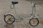 """Fahrrad /  Faltrad """"BICKERTON portable"""", 70/80er Jahre , silber, Originalzustand, Sturmey Archer 3-Gang Schaltnabe"""