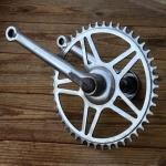 Tretlager ,orig.50-60er Jahre, verchromt, gebraucht, passend für 40 x 70 mm Tretlagergehäuse