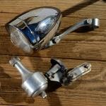 """Lichtanlage """"BOSCH"""", 50er Jahre, verchromtes Gehäuse, Dyn. Anbau rechts, incl. Halter, gebraucht"""