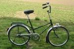 """Fahrrad /  Klapprad / Zerlegerad, """"JUNCKER HOLLAND /Gazelle"""", 70/80er Jahre , dunkelgrün, sehr schöner Originalzustand,"""