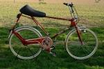 "Reitrad Fahrrad ""HERCULES Cavallo"", 70er J., rotmetallic, 26 Zoll, F+S Torp. 3-Gang, schöner Originalzustand"