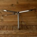 Lenker mit Gestängebremse, deutsche Form, alte Neuware, verchromt,  22mm, Breite 59 cm, Schaftlänge 25 cm