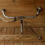 Lenker, orig. 30er J.mit Patina, Bremse, Glocke und Griffe dabei, verchromt,  22mm, Breite 47 cm, Schaftlänge 16,5 cm