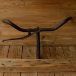 Lenker, orig. 40er Jahre, schwarze Kriegsausführung mit Bremshebel, 22mm, Breite 53 cm, Schaftlänge 17,5 cm, Zustand gebraucht