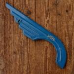 """Kettenschutz markenspezifisch  """"BAUER"""", blau, Stahl, orig. 50/60er Jahre, gebraucht, L=40cm"""