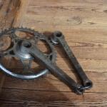 Kurbelgarnitur `Opel` orig. 30er Jahre, verchromt, gebraucht, Zustand s. Bilder