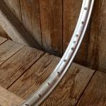 """Felge Moped Einzel, 24"""" x 2,00 (507) """"ALTENBURGER"""" Aluminium silber, 36 Loch gepunzt, 36mm breit, orig. Altbestand NEU"""
