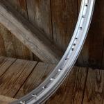 """Felge Moped , 23"""",  """"WEINMANN"""" Aluminium silber, 36 Loch gepunzt, 47mm breit, orig. Altbestand NEU !!"""