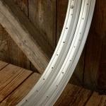 """Felgen Moped Satz, 23"""" x 2,25  """"RUHRWERK"""" Stahl silber, 36 Loch ungepunzt, 41mm breit, orig. Altbestand NEU"""