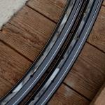 """Felgen Satz 26"""" x 1,75 (559) Stahl schwarz, 36 Loch, f. Drahtbereif., 36mm breit, Nippelbohrung 4,5mm, blau geflammt liniert, NEU"""