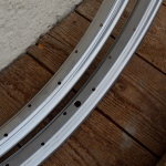 "Felgen Satz 26"" x 1,75 (559) Stahl silber, 36 Loch, f. Drahtbereif., 36 Loch, 36mm breit, Nippelbohrung 4,5mm, unliniert,"