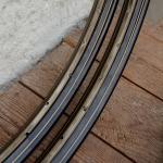"""Felgen Satz 26"""" x 1,75 (559) Stahl schwarz, 36 Loch, 36mm breit, Nippelbohrung 4,5mm, gold geflammt liniert,"""