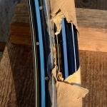 """Felgen Satz Draht 28"""" x 1,75 (622)  Stahl schwarz, Linierung blau weiss, 36/36 Loch, 35mm breit, Nippelbohrung 4,5mm"""