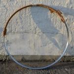 "Fahrradfelge f. Drahtbereifung, 28"" x 1.5 (635), Stahl, verchromt, orig. Altbestand, 36 Loch , 31mm breit"