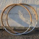 """Fahrradfelge Satz f. Wulstbereif. 24"""" x 1 1/2 (540), Stahl, verchromt, orig. Altbestand, 36 Loch , 29mm breit"""