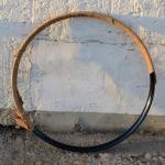"""Fahrradfelge f. Wulstbereifung, 20"""" x 1 1/2 (450), Stahl, schwarz, unliniert, orig. Altbestand, 36 Loch , 30mm breit"""