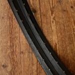 """Felgen Satz 26"""" x 2,00 x 1  3/4 (571) Westwood Stahl schwarz, f. Drahtbereif., 36 Loch, 40mm breit, Bohrung 4,5mm, doppelt gold liniert, gebraucht"""