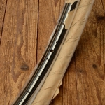 """Felgen Satz Draht 28"""" x 1,75 (622)  Stahl schwarz, Linierung weiss-gold, 36/36 Loch, 35mm breit, Nippelbohrung 4,5mm, NOS"""