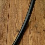 """Fahrradfelge f. Wulstbereifung, 26"""" x 1 1/2 (584), Stahl, schwarz, orig. 30-50er Jahre, 32 Loch !!!, 33mm breit"""
