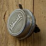 """Fahrrad Klingel  """"RABENEICK"""", orig. 50er Jahre, verchromt, incl. Unterteil, mit Patina / Gebrauchsspuren, siehe Bilder"""